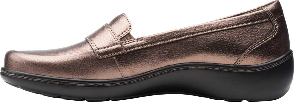 Women's Clarks Cora Daisy Loafer, Bronze Metallic Synthetic, large, image 3