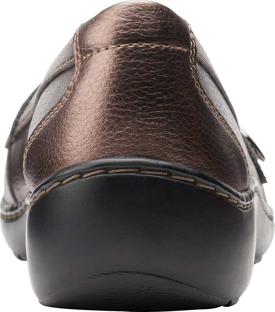 Women's Clarks Cora Daisy Loafer, Bronze Metallic Synthetic, large, image 4