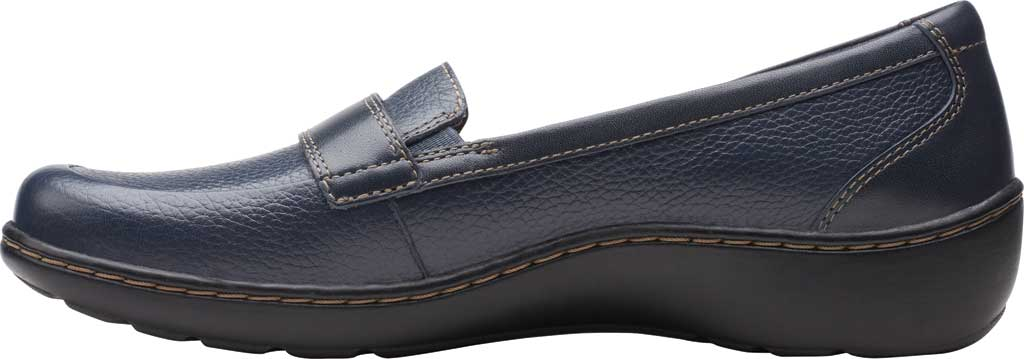 Women's Clarks Cora Daisy Loafer, Navy Tumbled Leather, large, image 3