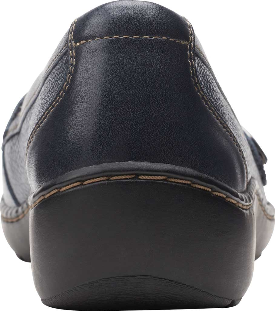 Women's Clarks Cora Daisy Loafer, Navy Tumbled Leather, large, image 4