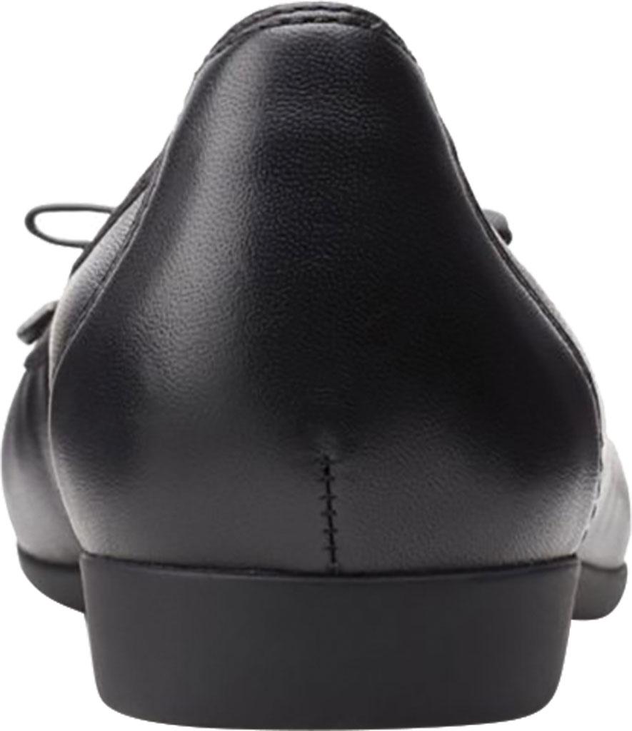 Women's Clarks Un Darcey Bow Ballet Flat, Black Full Grain Leather, large, image 4