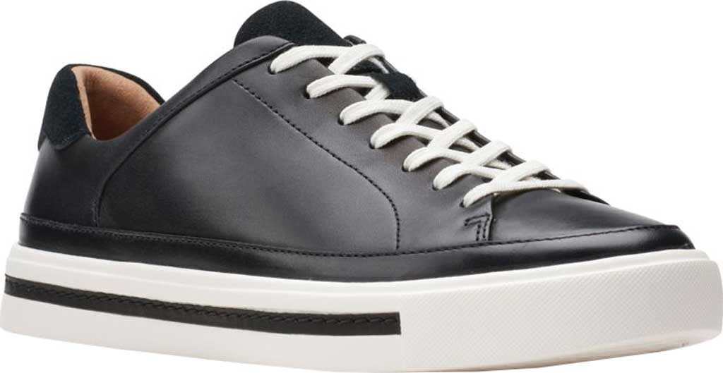 Women's Clarks Un Maui Tie Sneaker, Black Full Grain Leather, large, image 1