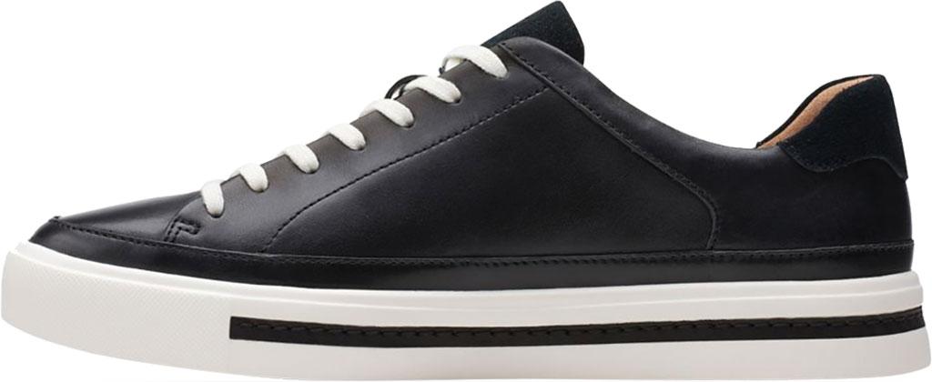 Women's Clarks Un Maui Tie Sneaker, Black Full Grain Leather, large, image 3