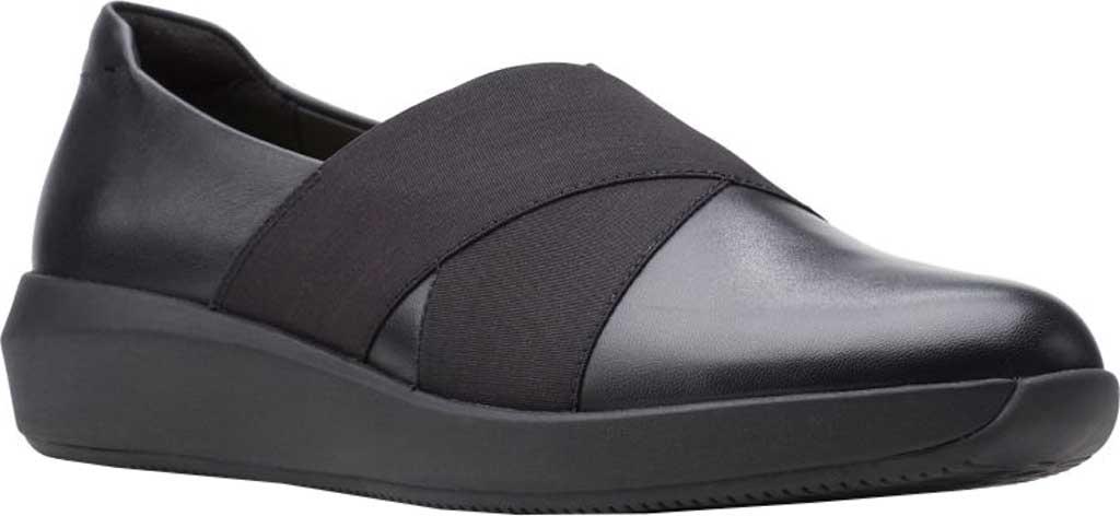 Women's Clarks Tawnia Band Slip On, Black Full Grain Leather, large, image 1