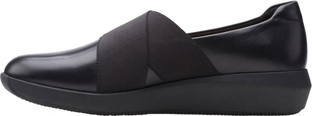 Women's Clarks Tawnia Band Slip On, Black Full Grain Leather, large, image 3