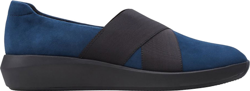 Women's Clarks Tawnia Band Slip On, Navy Suede, large, image 2