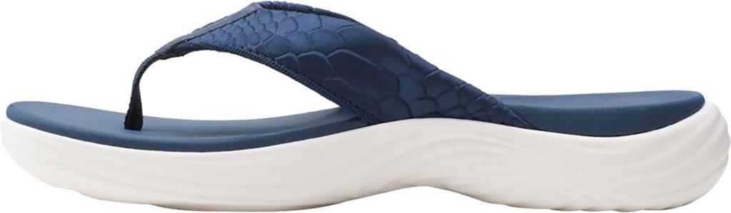 Women's Clarks Lola Point Flip Flop, Navy Textile, large, image 3