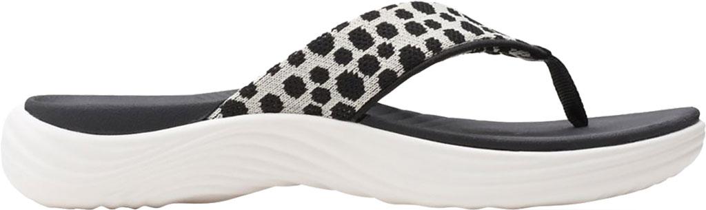 Women's Clarks Lola Point Flip Flop, Black/White Interest Textile, large, image 2