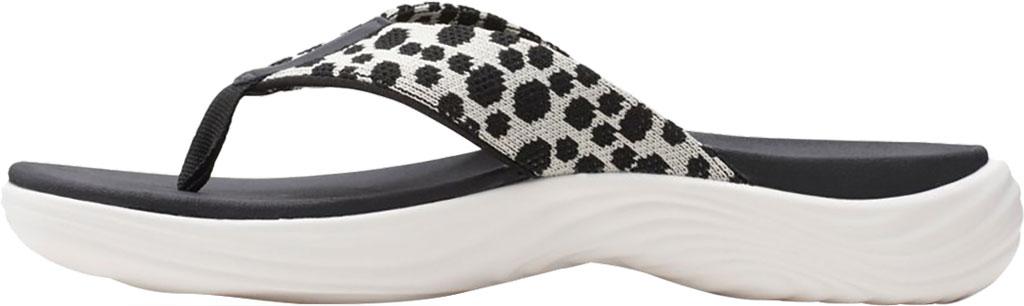 Women's Clarks Lola Point Flip Flop, Black/White Interest Textile, large, image 3