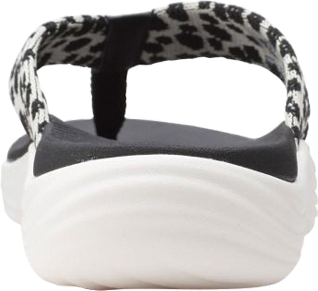 Women's Clarks Lola Point Flip Flop, Black/White Interest Textile, large, image 4