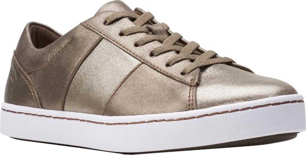 Women's Clarks Pawley Rilee Sneaker, Metallic Leather, large, image 1