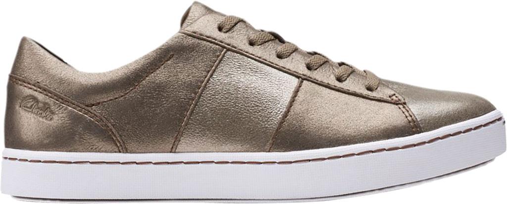 Women's Clarks Pawley Rilee Sneaker, Metallic Leather, large, image 2