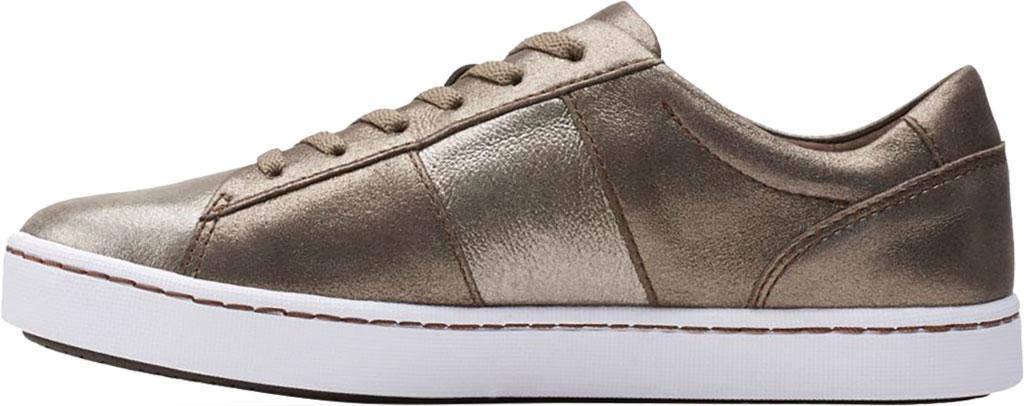 Women's Clarks Pawley Rilee Sneaker, Metallic Leather, large, image 3