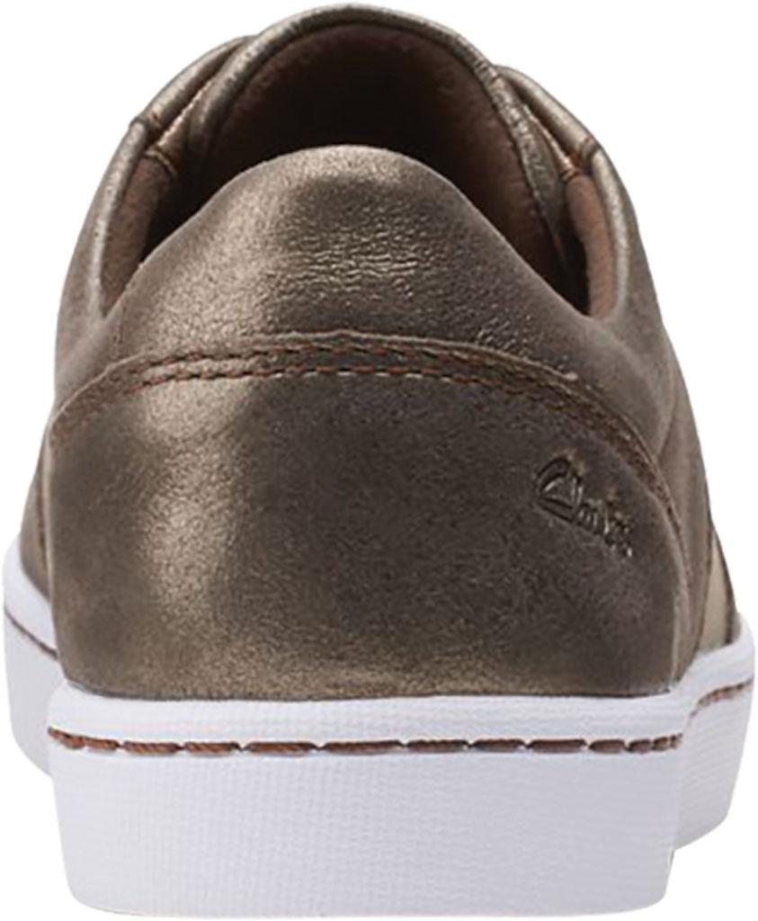 Women's Clarks Pawley Rilee Sneaker, Metallic Leather, large, image 4