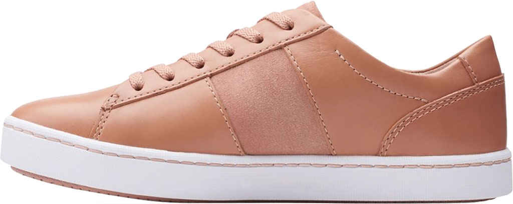 Women's Clarks Pawley Rilee Sneaker, Rose Suede/Full Grain Leather, large, image 3