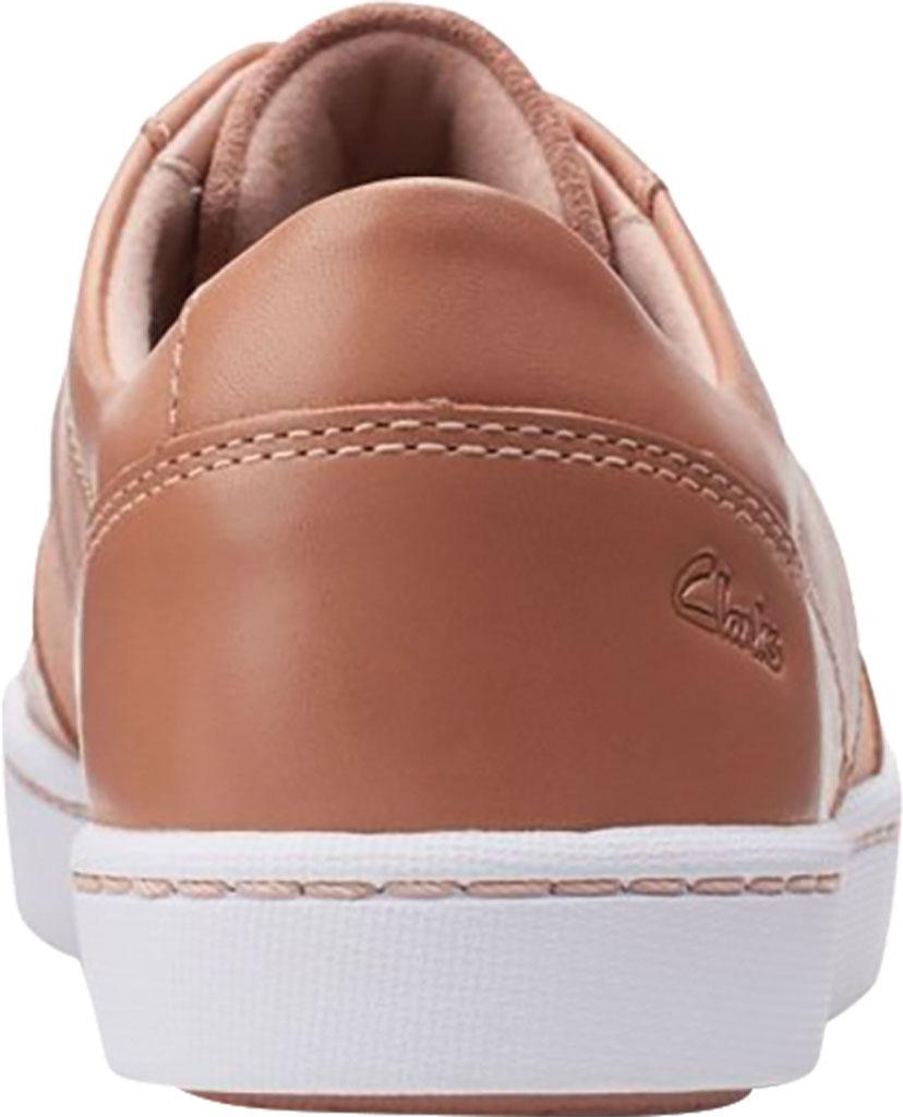 Women's Clarks Pawley Rilee Sneaker, Rose Suede/Full Grain Leather, large, image 4