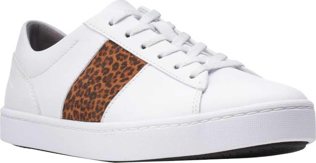 Women's Clarks Pawley Rilee Sneaker, White Combi Full Grain Leather, large, image 1