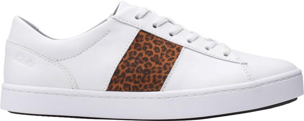 Women's Clarks Pawley Rilee Sneaker, White Combi Full Grain Leather, large, image 2