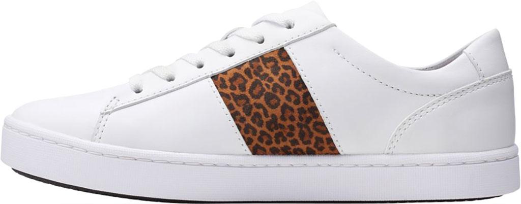 Women's Clarks Pawley Rilee Sneaker, White Combi Full Grain Leather, large, image 3