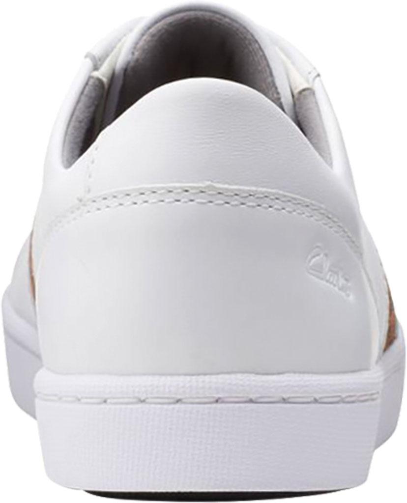 Women's Clarks Pawley Rilee Sneaker, White Combi Full Grain Leather, large, image 4