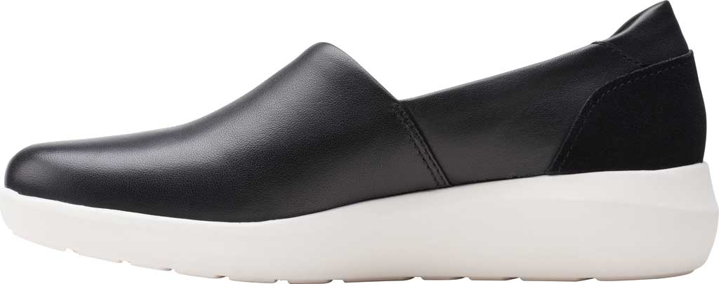 Women's Clarks Kayleigh Step Slip On Sneaker, Black Combi Leather, large, image 3