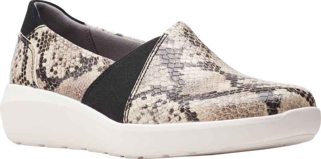 Women's Clarks Kayleigh Step Slip On Sneaker, Taupe Snake Synthetic, large, image 1