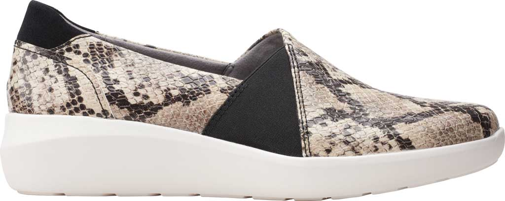 Women's Clarks Kayleigh Step Slip On Sneaker, Taupe Snake Synthetic, large, image 2