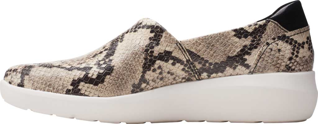 Women's Clarks Kayleigh Step Slip On Sneaker, Taupe Snake Synthetic, large, image 3