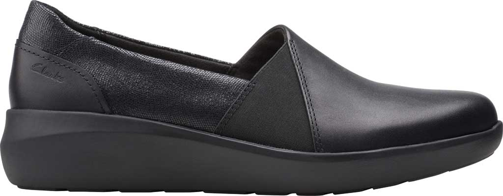 Women's Clarks Kayleigh Step Slip On Sneaker, Black Interest Combi Suede, large, image 2