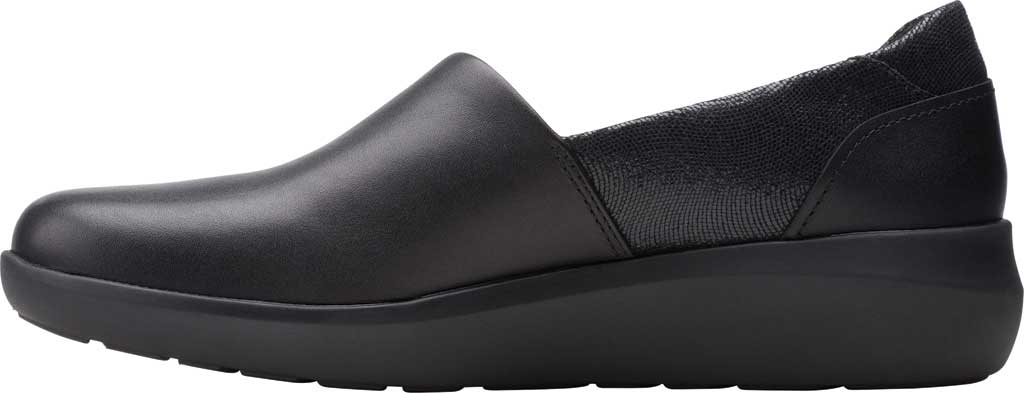 Women's Clarks Kayleigh Step Slip On Sneaker, Black Interest Combi Suede, large, image 3