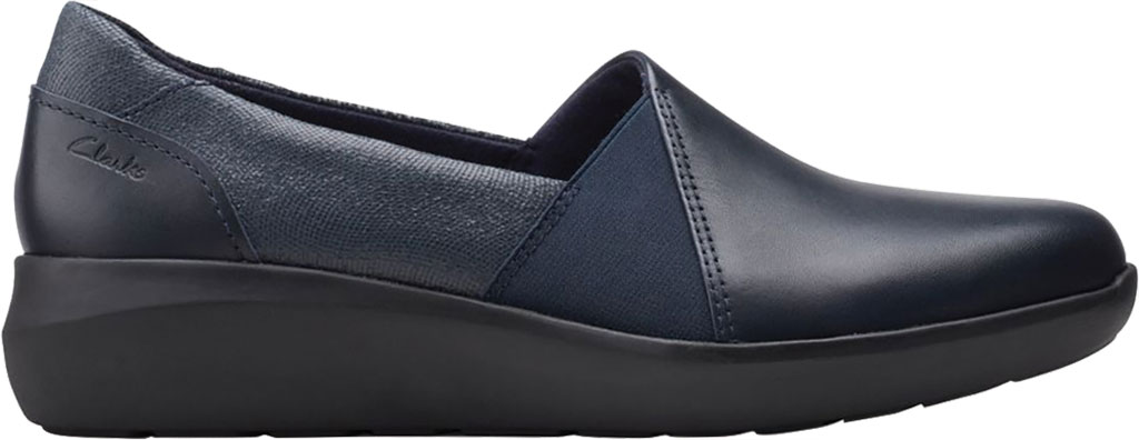 Women's Clarks Kayleigh Step Slip On Sneaker, Navy Interest Combi Suede, large, image 2