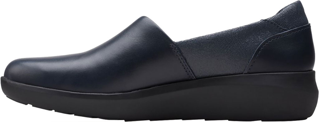 Women's Clarks Kayleigh Step Slip On Sneaker, Navy Interest Combi Suede, large, image 3