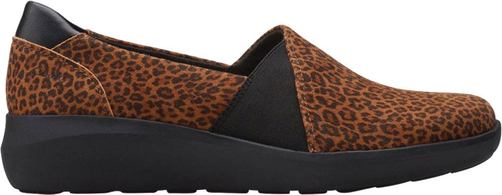 Women's Clarks Kayleigh Step Slip On Sneaker, Dark Tan Cheetah Print Suede, large, image 2