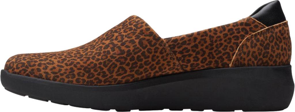 Women's Clarks Kayleigh Step Slip On Sneaker, Dark Tan Cheetah Print Suede, large, image 3
