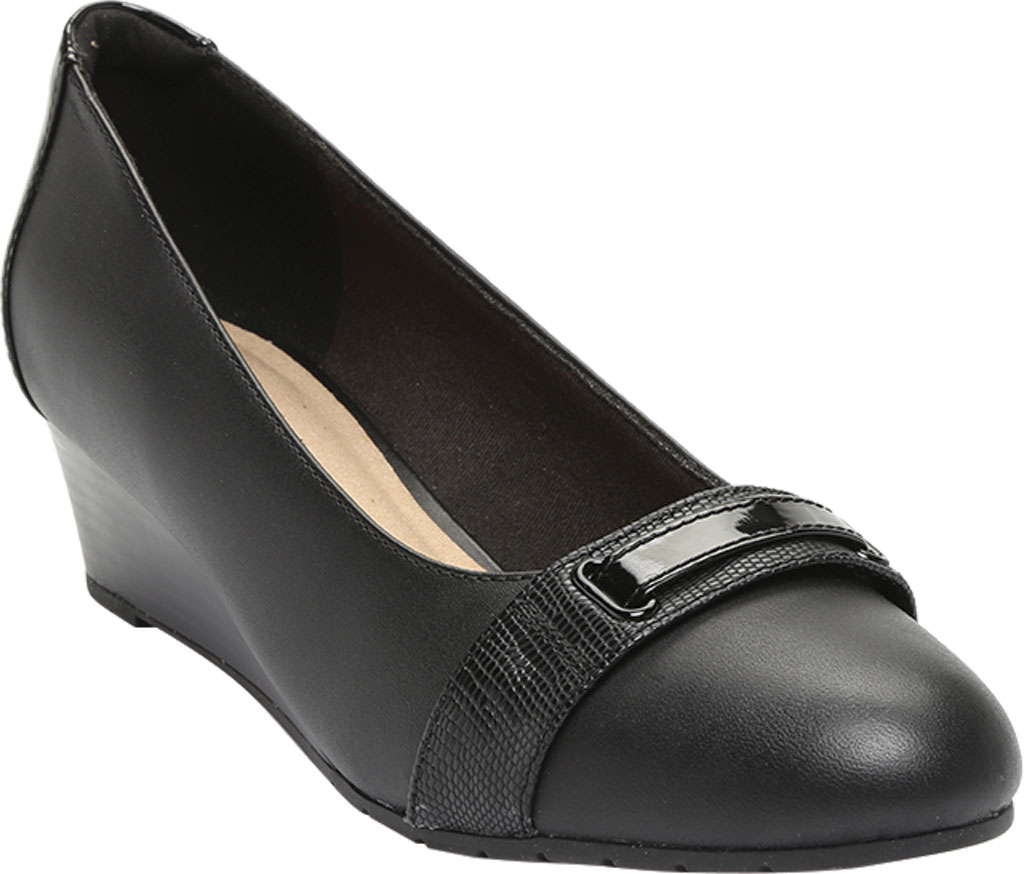 Women's Clarks Mallory Strap Wedge Pump, , large, image 1