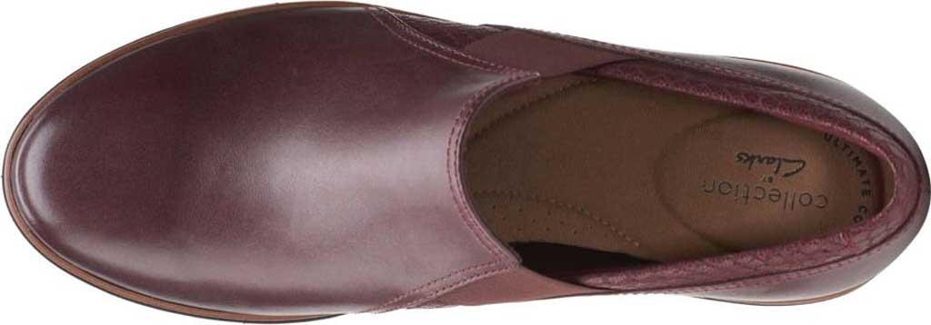 Women's Clarks Mazy Squam Wedge Loafer, Burgundy Interest Combi Full Grain Leather, large, image 5