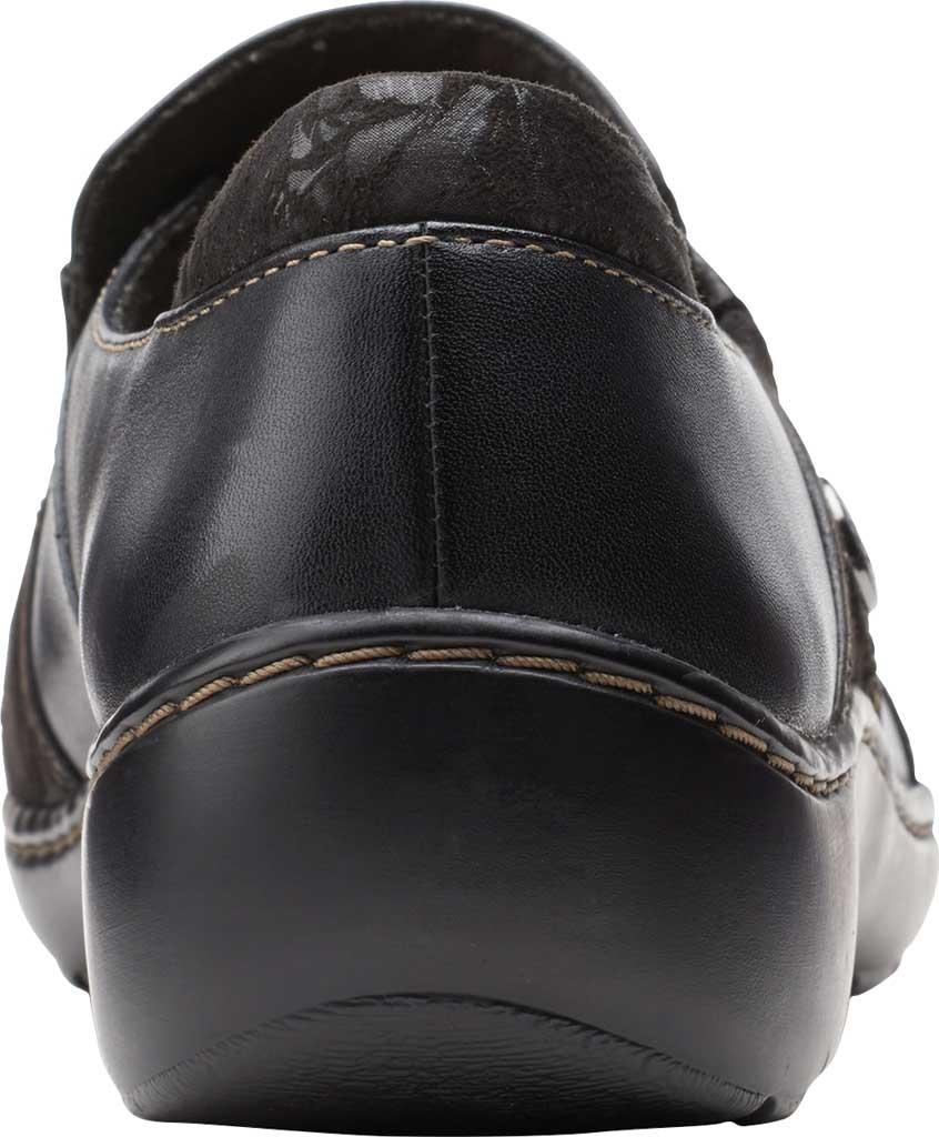 Women's Clarks Cora Poppy Slip On, Black Textile/Leather, large, image 4