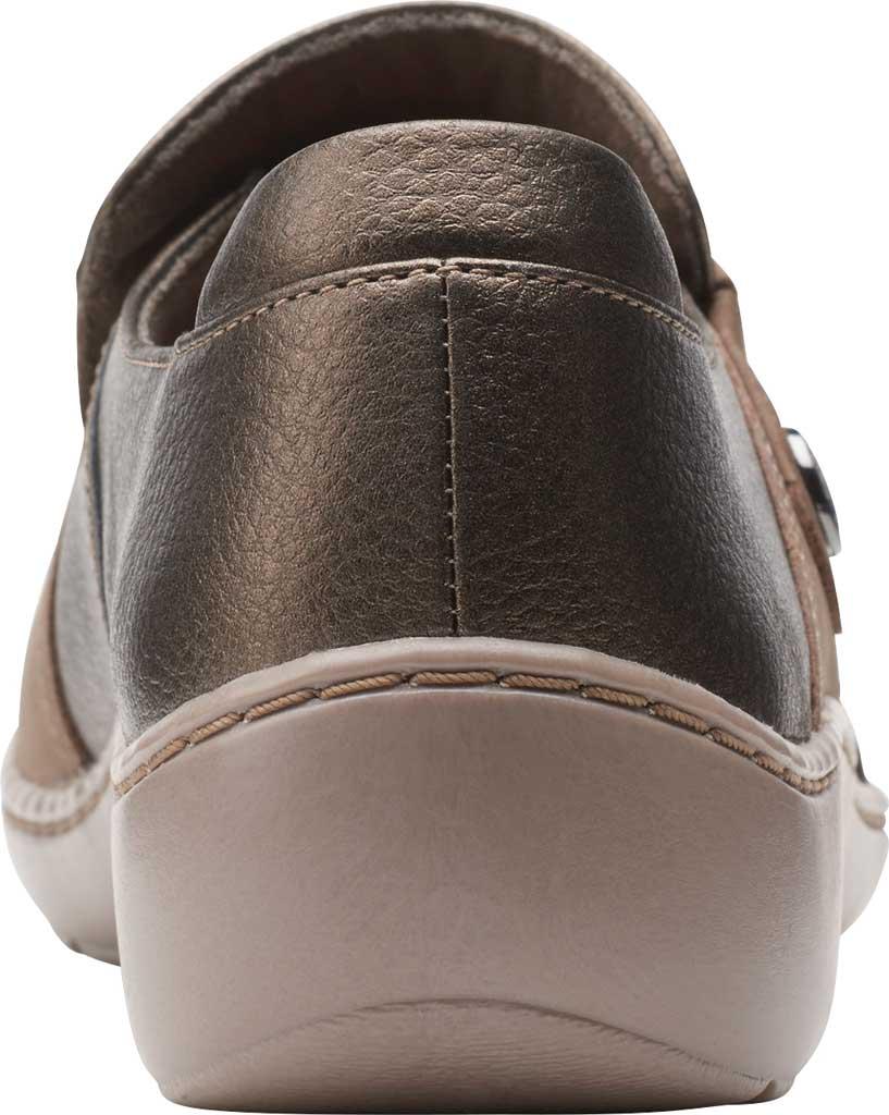 Women's Clarks Cora Poppy Slip On, Taupe/Bronze Combination Full Grain Leather, large, image 4