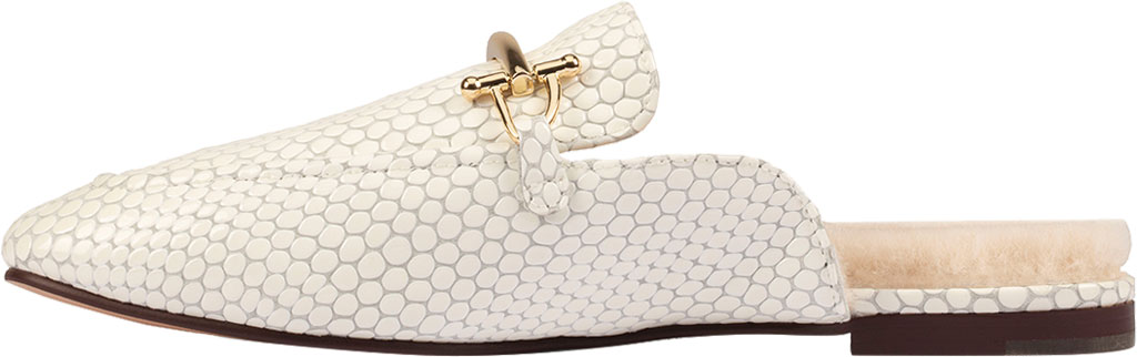 Women's Clarks Pure2 Mule, White Interest Leather, large, image 3