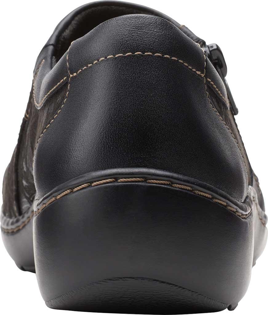 Women's Clarks Cora Giny Slip On, Black Textile/Leather, large, image 4