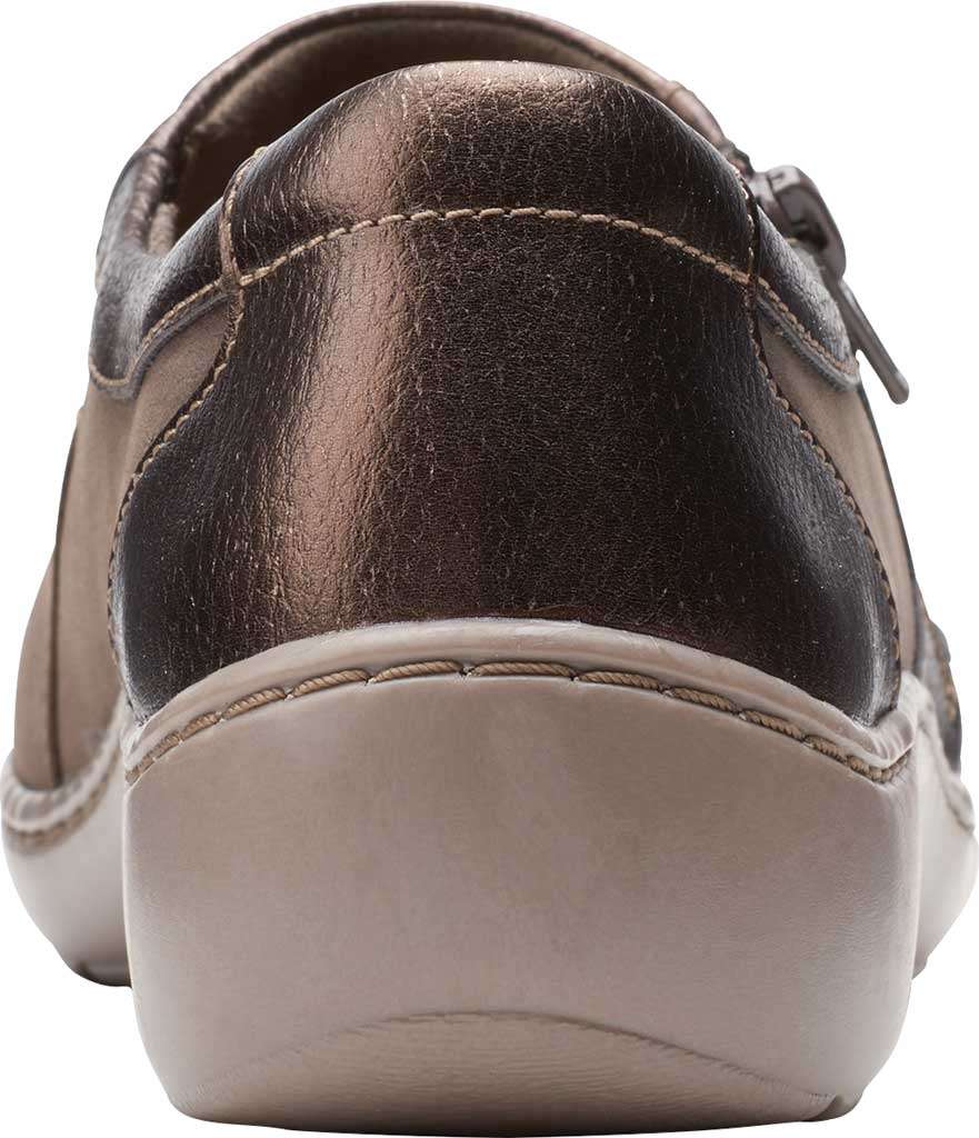 Women's Clarks Cora Giny Slip On, Taupe/Bronze Synthetic/Leather, large, image 4