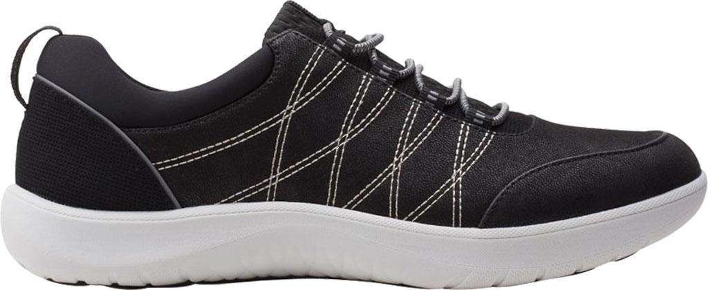 Women's Clarks Adella Holly Sneaker, Black Textile, large, image 2