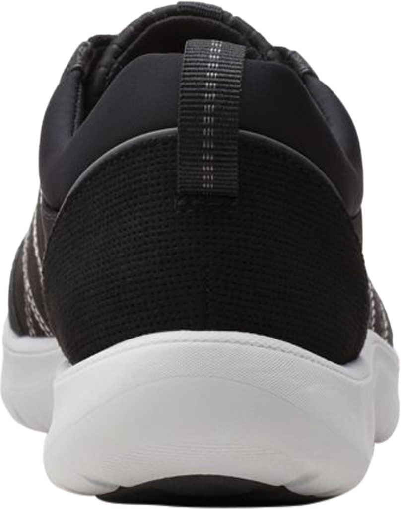 Women's Clarks Adella Holly Sneaker, Black Textile, large, image 4