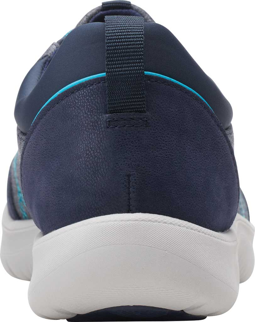 Women's Clarks Adella Holly Sneaker, Navy Heathered Textile, large, image 4