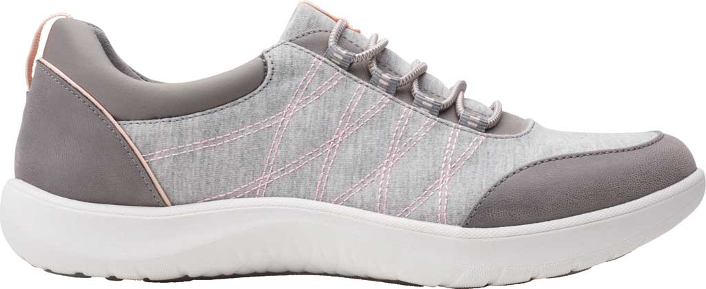 Women's Clarks Adella Holly Sneaker, Grey Heathered Textile, large, image 2