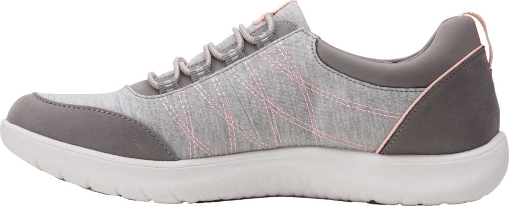 Women's Clarks Adella Holly Sneaker, Grey Heathered Textile, large, image 3