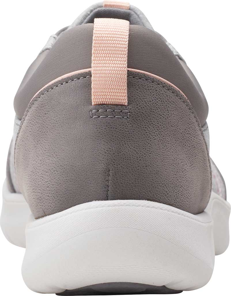 Women's Clarks Adella Holly Sneaker, Grey Heathered Textile, large, image 4