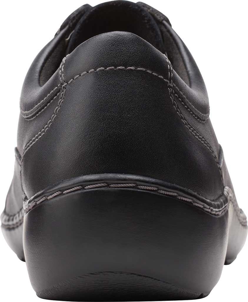 Women's Clarks Cora Calica Sneaker, Black Leather, large, image 4