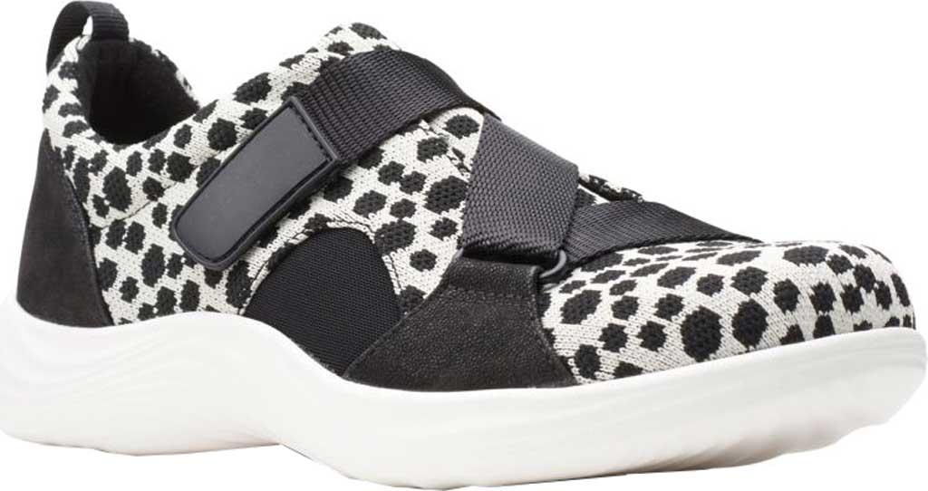 Women's Clarks Lulu Go Sneaker, Black/White Interest Textile, large, image 1