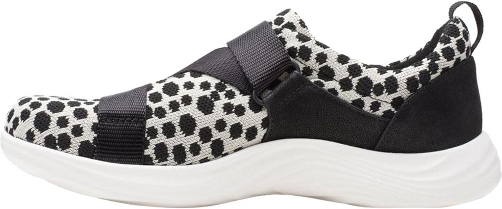 Women's Clarks Lulu Go Sneaker, Black/White Interest Textile, large, image 3
